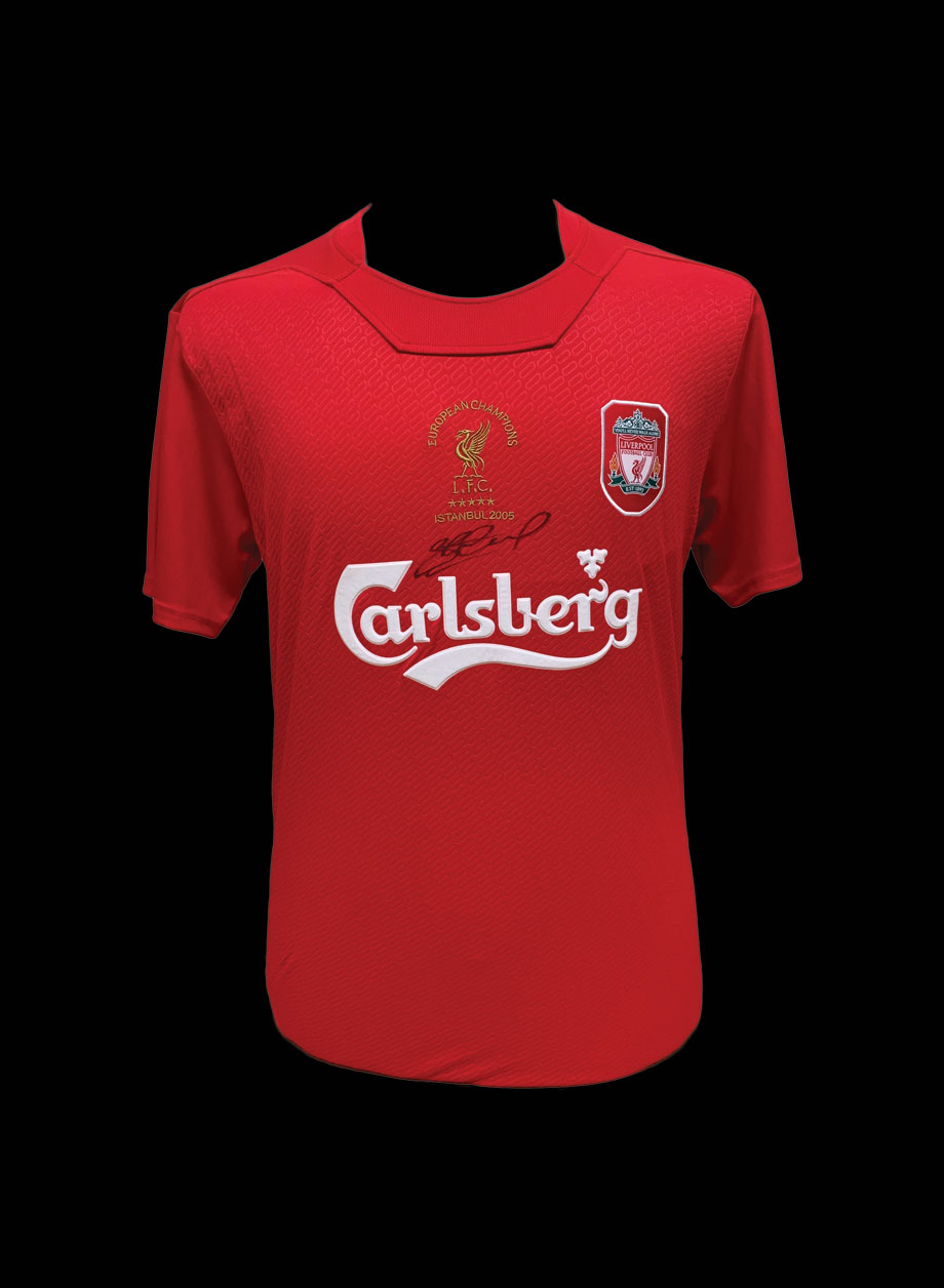 reputable site 843e0 c9276 Steven Gerrard Signed Liverpool 2005 Champions League Final shirt