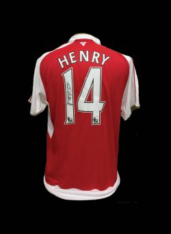 ad17be5c0c5 Thierry Henry signed Arsenal 14 shirt