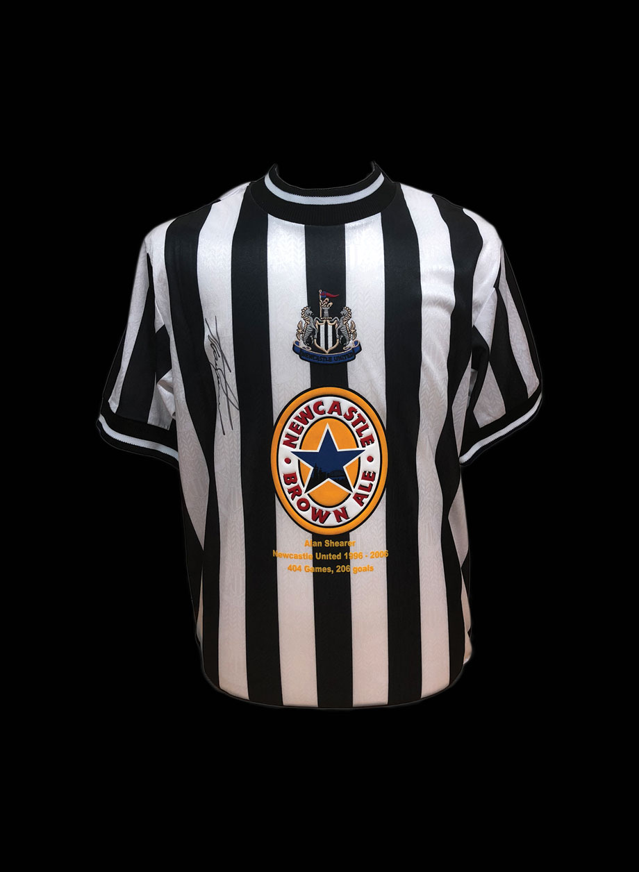 lowest price 6060b df0ad Alan Shearer signed 1998 Newcastle United career stat shirt