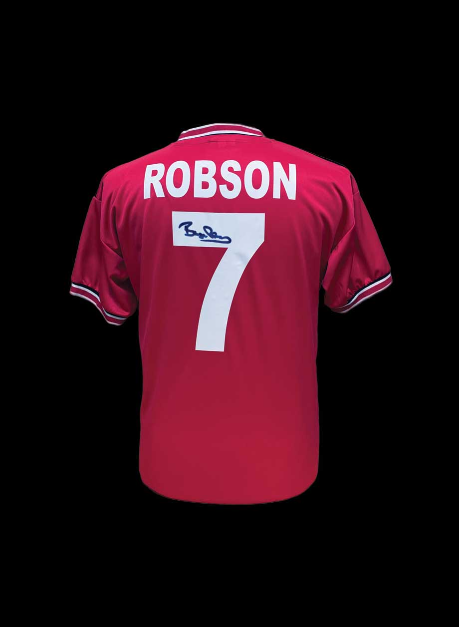 d44cd976fc1 Bryan Robson signed Manchester United 1985 shirt - All Star Signings