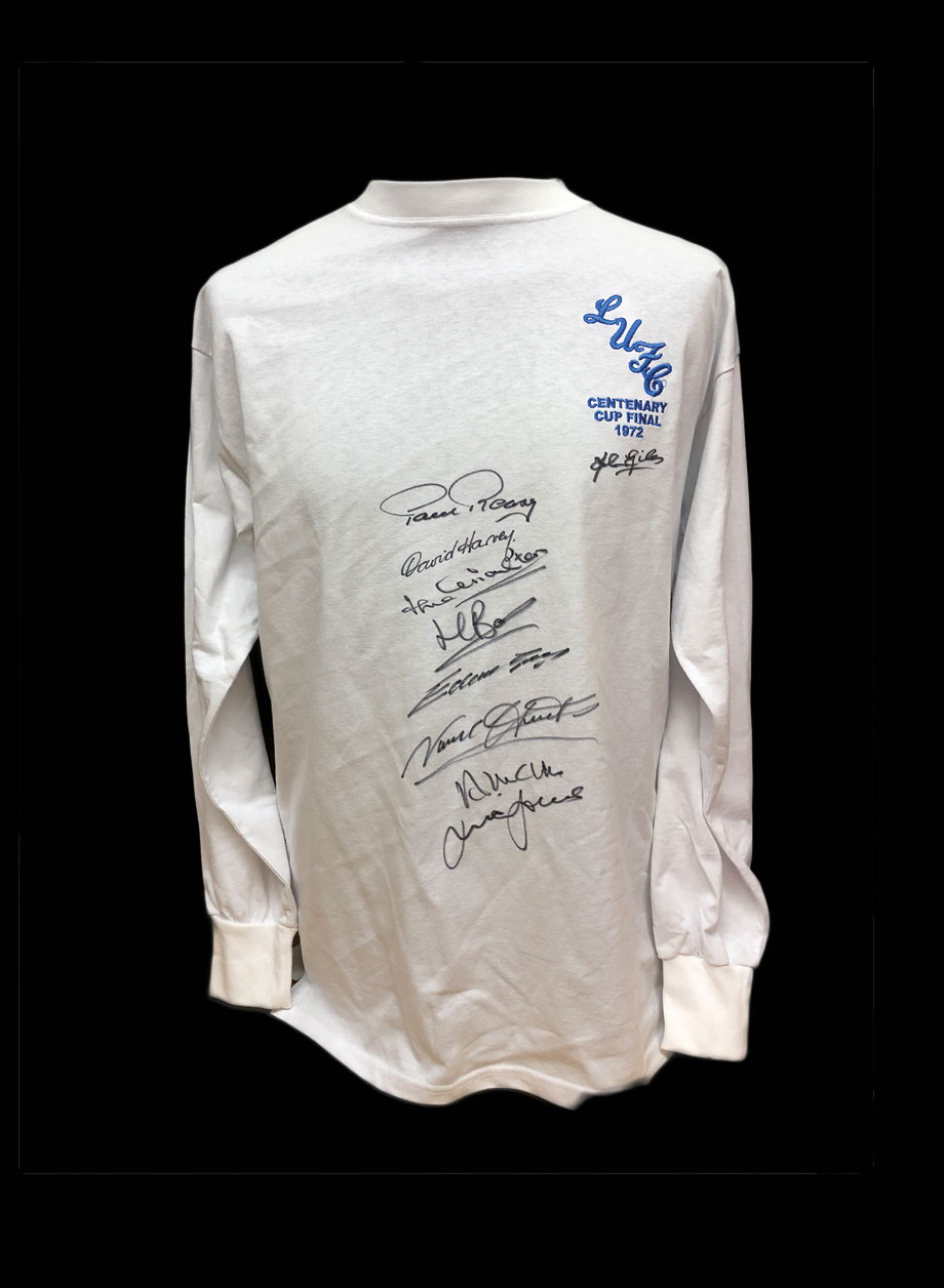 f0980affd Leeds United 1972 FA Cup Final shirt signed by 9 - All Star Signings