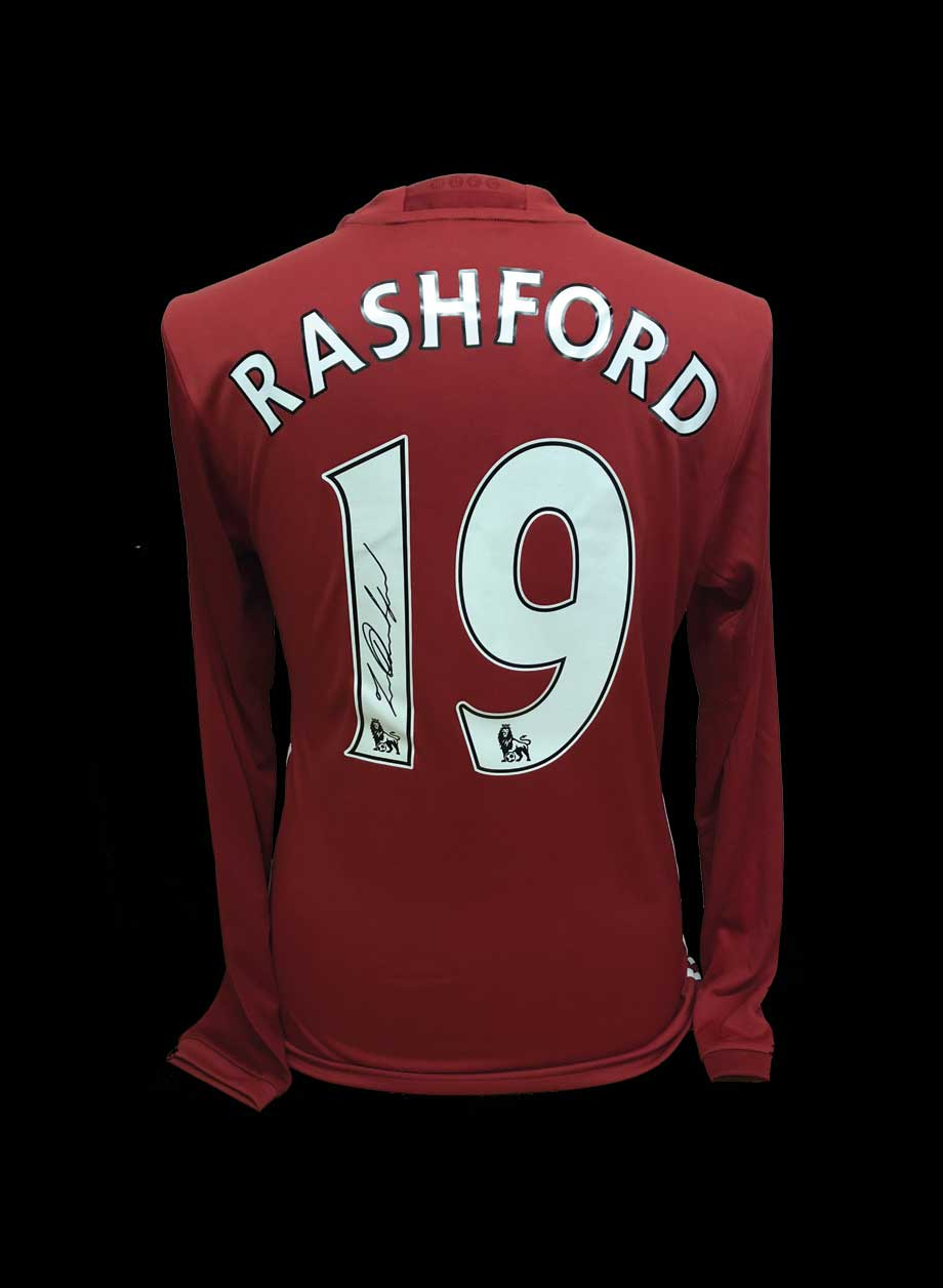 8f987629f23 Marcus Rashford signed Manchester United shirt - All Star Signings