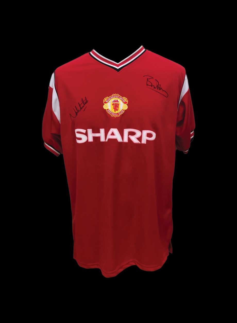 063bf9d68d1 Robson   Whiteside signed Manchester United 1985 shirt - All Star ...