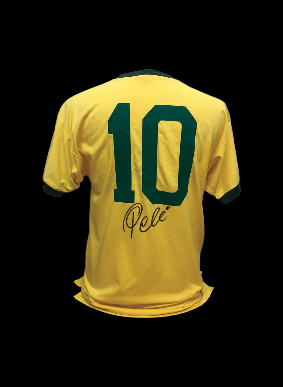 Pele signed Brazil number 10 shirt - All Star Signings 2ce440394