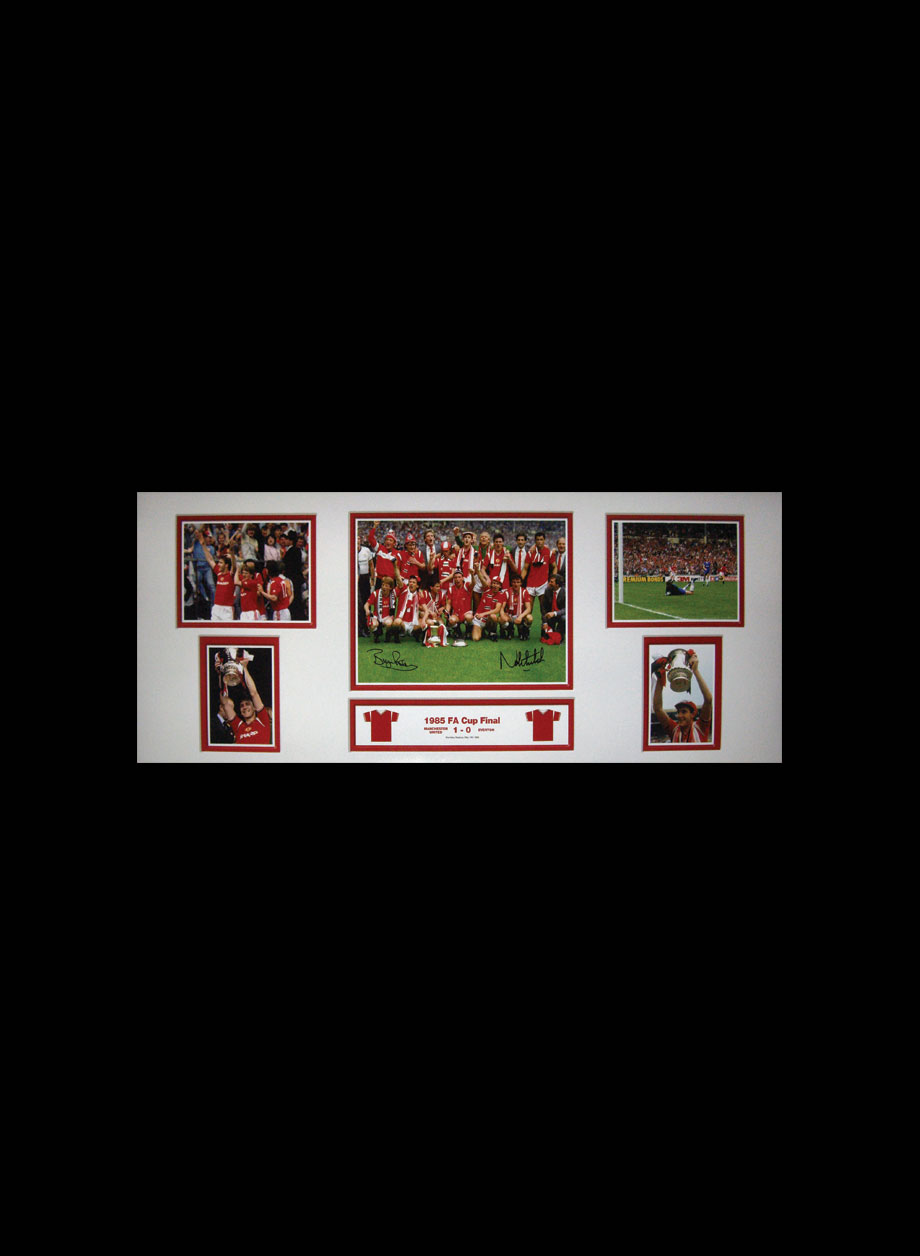 f83fabb296a Bryan Robson   Norman Whiteside signed 1985 FA Cup Final signed ...