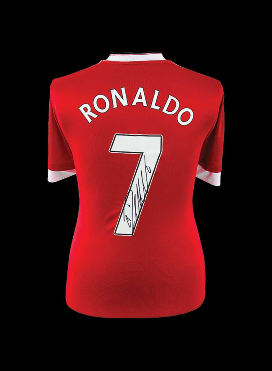 super popular 09ddf 17c3c Cristiano Ronaldo signed Manchester United shirt - All Star ...