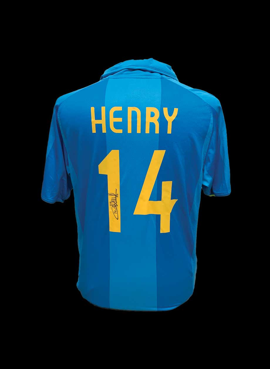 premium selection 76e00 40402 Thierry Henry signed Barcelona 2007/08 shirt