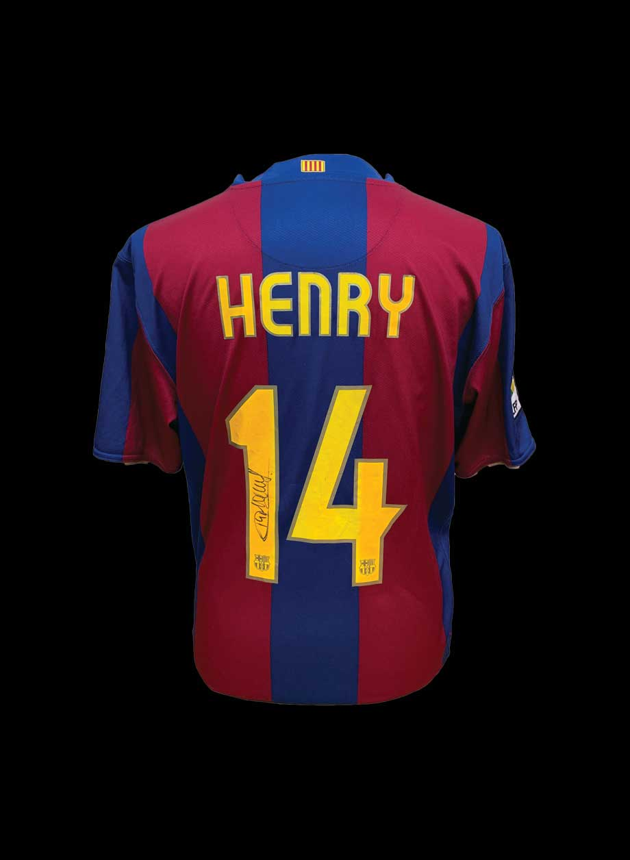 413c4ae0c Thierry Henry signed Barcelona 2007 08 shirt - All Star Signings