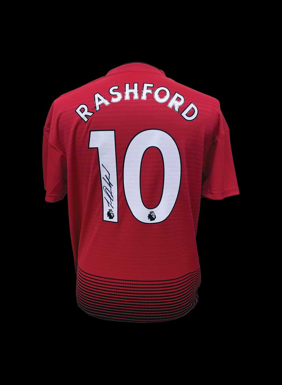 buy online ace8f 918c8 Marcus Rashford signed Manchester United 2018/19 shirt