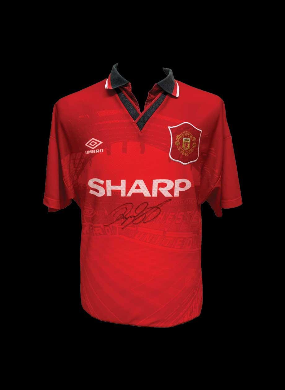 promo code 83b71 aecf8 Ryan Giggs signed Manchester United 1996 shirt