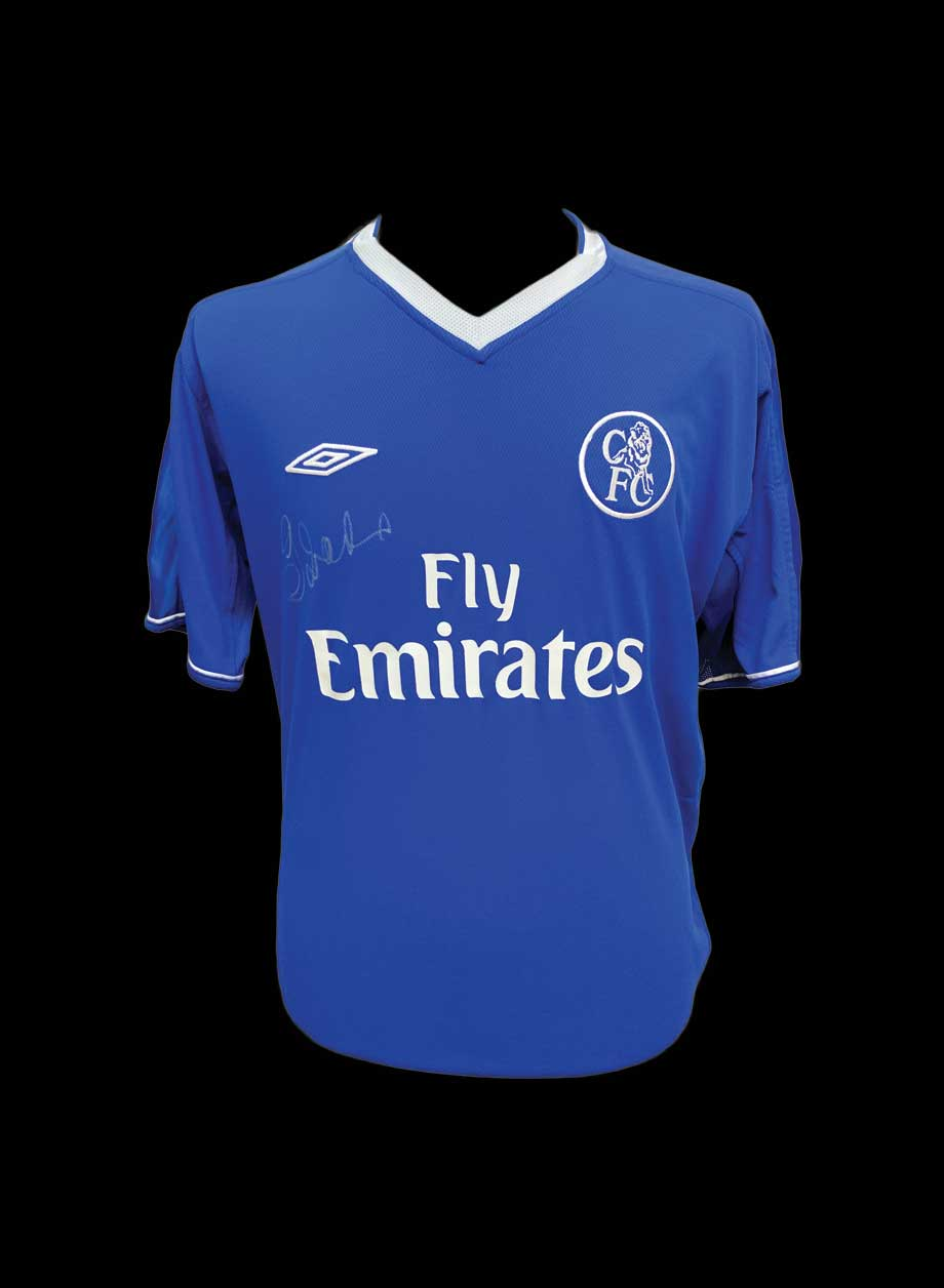 buy online 85be1 ab2fa Gianfranco Zola signed Chelsea 2003/05 shirt