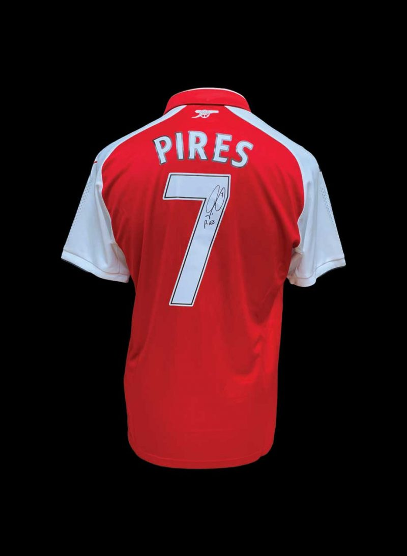 size 40 6cd8d 46a81 Robert Pires signed Arsenal shirt